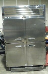 Traulsen Stainless Steel Half Door Two Section Reach In Refrigerator