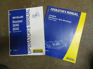New Holland 3040 3045 Boomer Tractor Mower Owners Maintenance Manual