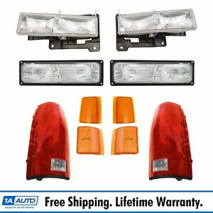 Headlight Parking Marker Light Tail Lamp Kit Set Of 10 For Gmc Truck Suv New