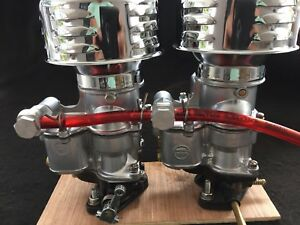 Holley 94 2100 Carb Set Ultra Chrome Finish Hot Rod Rat Flathead Tripower