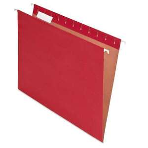 Pendaflex Earthwise Recycled Colored Hanging File Folders 1 5 Tab Letter Red