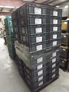Pallet Of 38 Orbis Nso2422 9 Distribution Containers Stackable Plastic Bins 24x2