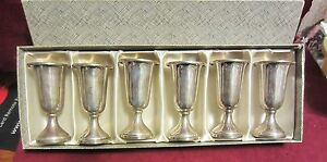 Vintage Web 28 Sterling Silver Cordial Classes In Box
