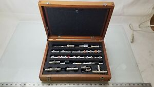 General Radio 874 50 Ohm Coaxial 27 Piece Hardware Kit W Wooden Case