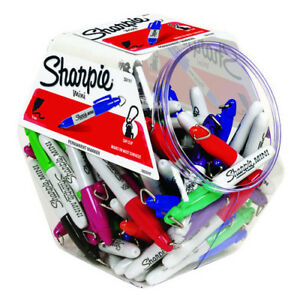 Sanford Sa35111 Sharpie Mini Fine 72 Count Assorted Canister