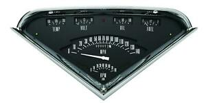 1955 1959 Chevrolet Chevy Truck Direct Fit Gauge Black Tf01b