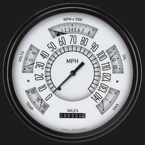 1949 1950 Ford Direct Fit Gauge White Fc49w