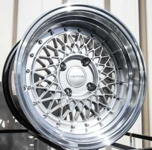 15x9 Rota Wired 4x114 3 15 Royal Hyper Silver Wheels New Set