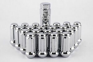 Set 24 Spline Lug Nuts 14mm X 1 5 Long 6 Lug Gmc Chevy Trucks Suv Kit Dpc1014st