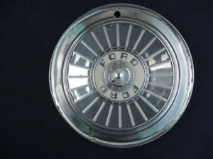 1957 Ford Fairlane Country Sedan Squire Thunderbird Hubcaps Set For25
