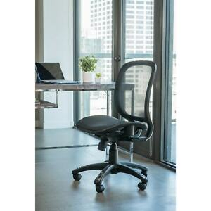 Fully Meshed Ergo Office Chair black With No Side Armrests And No Headrest