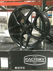 Fits 20 10 11 Z28 Staggered Satin Black Wheels Rims For Camaro 5th 6th Gen