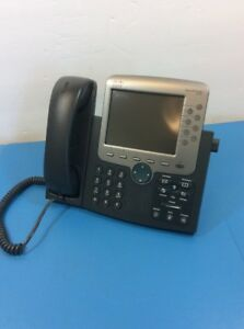 Cisco Systems Cp 7970g Voip Business Phone W Handset And Stand Tc