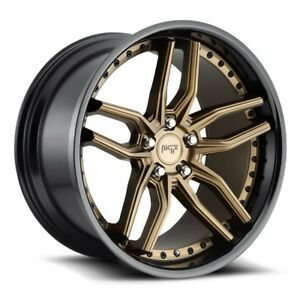 20x10 5 Niche Methos M195 5x112 40 Bronze Wheels Set Of 4
