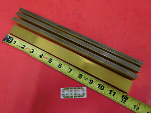 4 Pieces 3 8 X 1 C360 Brass Flat Bar 12 Long Solid Mill Stock H02 375 x 1 0