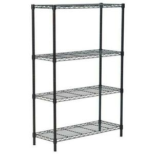 Commercial 56 36 14 4 Tier Shelf Adjustablesteel Wire Metal Shelving Rack
