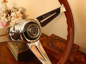 Volvo P1800 P1800s Steering Wheel Deep Dish Nardi Wood 13 75 Nos New