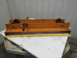 Harrington Hpc510 Convertible Overhead Crane End Trucks 1 Ton Capacity Lot Of 2