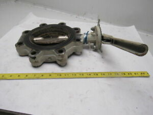 Milwaukee Ml323b A U 6 Lug Type Butterfly Valve W manual Hand Lever Actuated