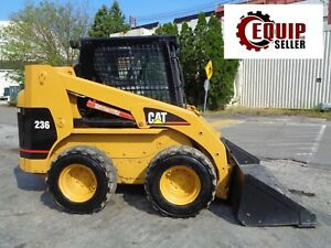 Caterpillar 236 Skid Steer Loader Enclosed Cab Auxiliary Hydraulics Diesel