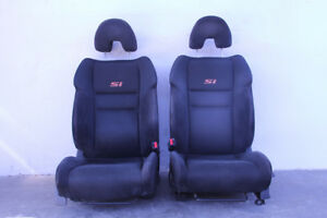 Honda Civic Si Coupe 06 11 Seat Assembly Set Front rear Right left Black Suede