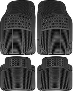 Car Floor Mats For Honda Civic 4pc Set All Weather Rubber Semi Custom Fit Black