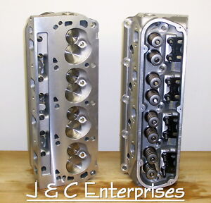 New Performance Sbf 289 302 351w Ford Cylinder Heads 195cc Intake 550 Springs
