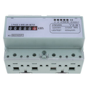 Three Phase 4 Wire Kwh Meter Din rail Power Meter Energy Electronic Meter