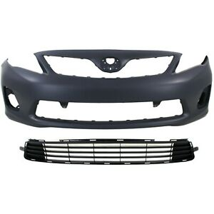 Bumper Cover Kit For 2011 2013 Toyota Corolla With Bumper Grille