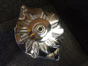 Chevy Alternator 200 Amp New 1 Single Wire High Amp Chrome