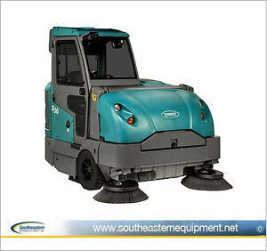 Reconditioned Tennant S30 Diesel Powered Rider Sweeper W Cab