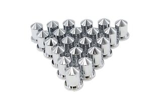 Chrome Lug Nut Covers Push On Pointed Plastic 20 3 4 18mm