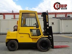 Hyster H60xm Forklift Boom Truck Side Shift Enclosed Cab Propane