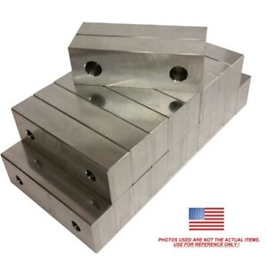 10 Pack 6 X 2 X 75 Machined Aluminum Vise Soft Jaws For Kurt 6 Vises Free Ship