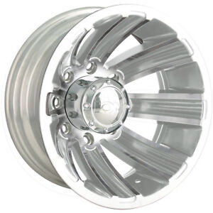 17x6 5 Chrome Alloy Ion Style 166 Dually Rear Wheels 8x170 140 Ford