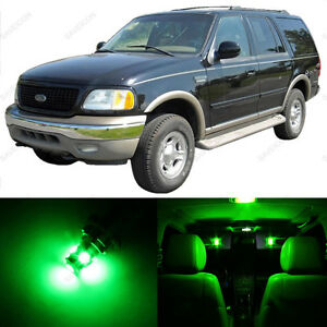 16 X Green Led Interior Light Package For 1997 2002 Ford Expedition Pry Tool