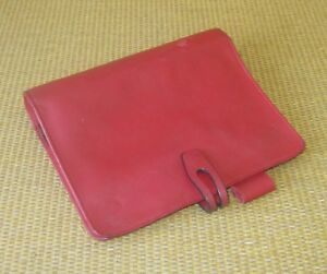 Compact 1 25 Rings Red Leather Unstructured Franklin Covey Planner binder