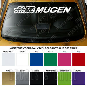 Mugen Honda Windshield Banner Civic Type R Vinyl Premium Decal Sticker 40
