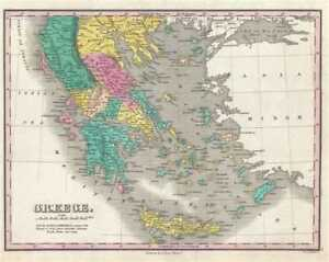 1828 Finley Map Of Greece