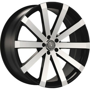 24x9 5 Black Machined Velocity Vw12a M Wheels 5x120 13 Lifted Fits Land Rover