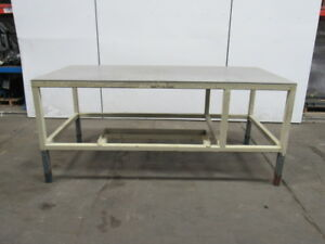 1 2 Thick Aluminum Top Machine Base Layout Work Table Bench 85 x40 x38