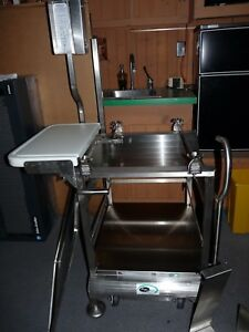 Deli Buddy Face To Face Mobile Slicer Stand Rolling Cart Nsf Stainless Steel