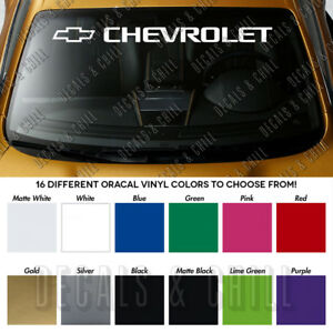 Chevrolet Emblem Windshield Banner Premium Vinyl Long Lasting Decal Sticker40