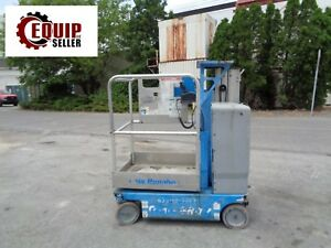 2009 Genie Gr12 Personal Boom Man Scissor Aerial Lift 12 Ft Height