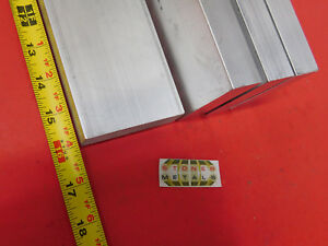 4 Pieces 1 x 3 Aluminum Flat Bar 16 Long 6061 T6511 Solid Plate Mill Stock