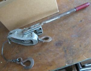 Lug all Hand Winch Come along Cable Hoist Made In Usa