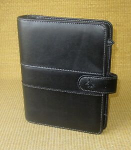 Classic 1 25 Rings Black Sim Leather Franklin Covey Open Planner binder