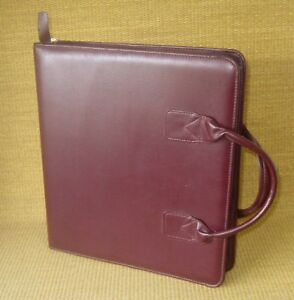 Monarch 1 75 Rings Burgundy Sim Leather Franklin Covey quest Planner binder