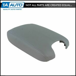 Center Console Armrest Lid Cover Gray Leather For 08 12 Honda Accord New