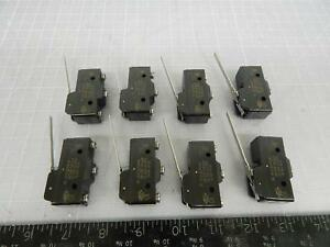 Lot Of 8 Micro Switch Bz 7rwt80 Basic Snap Action Switches Basic Sw Spdt 15 A